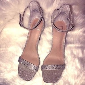 Material Girl Silver Jeweled MBlair Heels